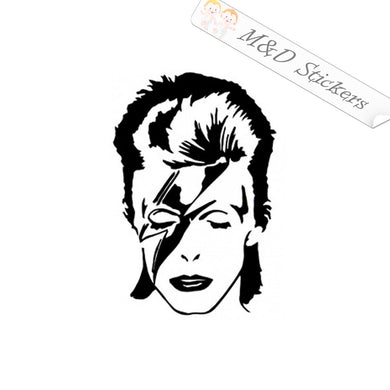 2x David Bowie Vinyl Decal Sticker Different colors & size for Cars/Bikes/Windows