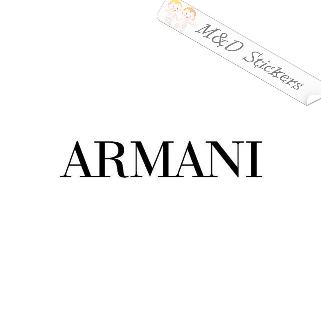 2x Giorgio Armani Logo Vinyl Decal Sticker Different colors & size for Cars/Bikes/Windows