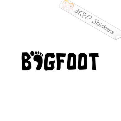 2x Bigfoot Vinyl Decal Sticker Different colors & size for Cars/Bikes/Windows
