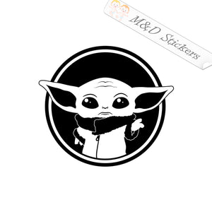 2x Baby Yoda Star Wars Vinyl Decal Sticker Different colors & size for Cars/Bikes/Windows