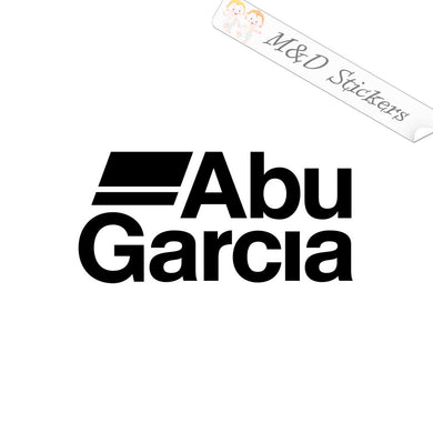 2x Abu Garcia Fishing Rods Vinyl Decal Sticker Different colors & size for Cars/Bikes/Windows
