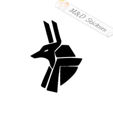 2x Egyptian God Vinyl Decal Sticker Different colors & size for Cars/Bikes/Windows