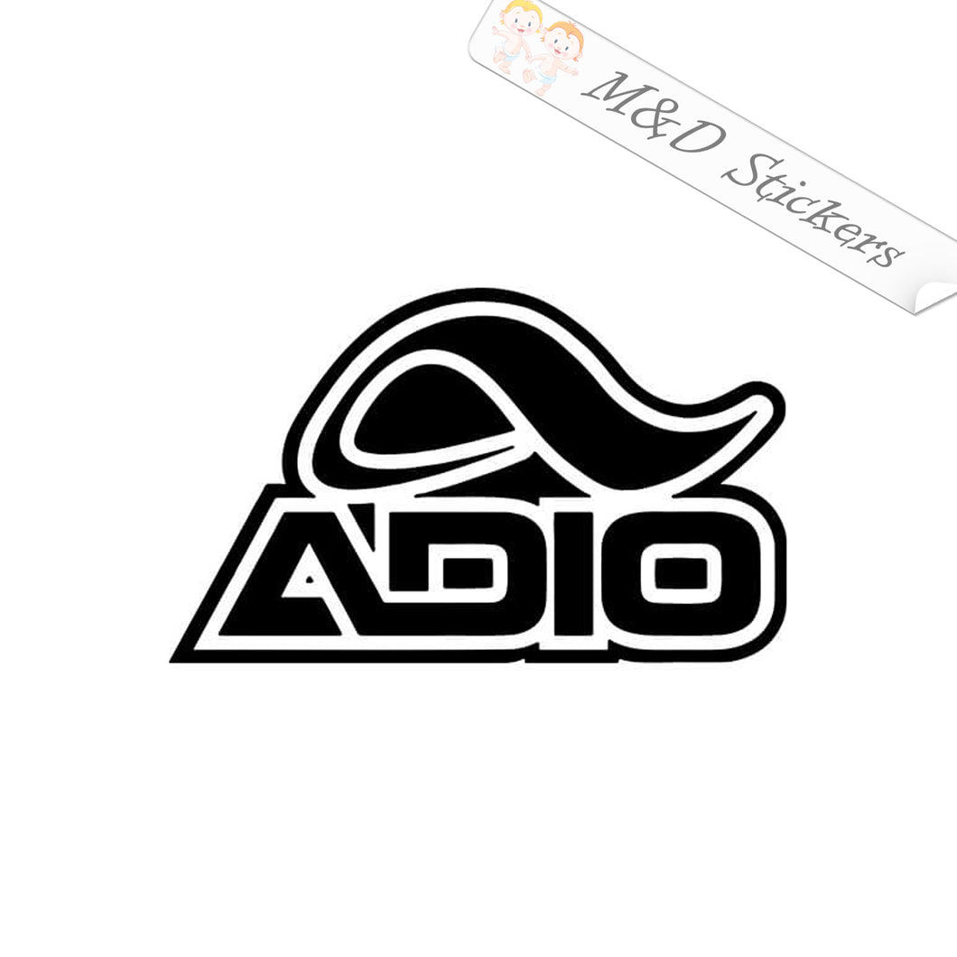 2x Adio skateboards Logo Vinyl Decal Sticker Different colors & size for Cars/Bikes/Windows