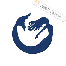 2x Norfolk City Mermaid Logo Vinyl Decal Sticker Different colors & size for Cars/Bikes/Windows