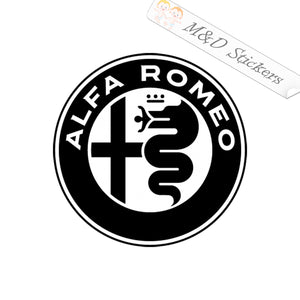 2x Alfa Romeo Logo Vinyl Decal Sticker Different colors & size for Cars/Bikes/Windows