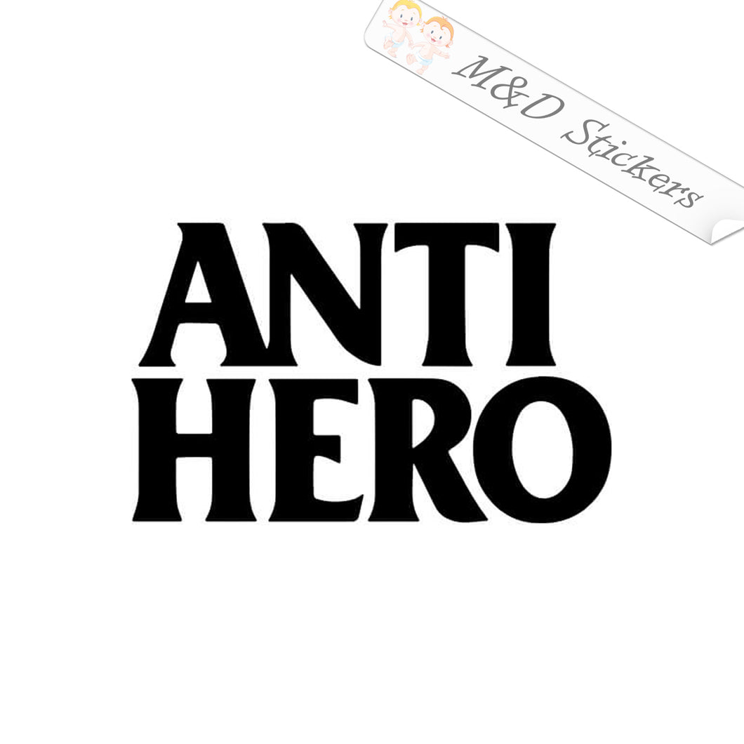 2x Anti Hero skateboards Logo Vinyl Decal Sticker Different colors & size for Cars/Bikes/Windows