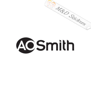 2x AO Smith water heaters Logo Vinyl Decal Sticker Different colors & size for Cars/Bikes/Windows
