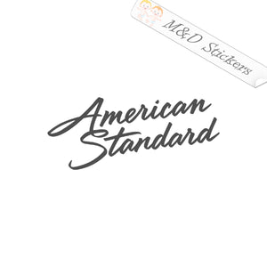 2x American Standard Logo Vinyl Decal Sticker Different colors & size for Cars/Bikes/Windows