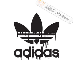 2x Adidas Blood drops Logo Vinyl Decal Sticker Different colors & size for Cars/Bikes/Windows