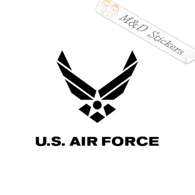 2x US Air Force Logo Vinyl Decal Sticker Different colors & size for Cars/Bikes/Windows