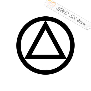 2x Alcoholics Anonymous Logo Vinyl Decal Sticker Different colors & size for Cars/Bikes/Windows
