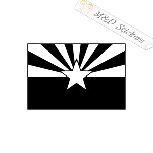 2x Arizona State Flag Vinyl Decal Sticker Different colors & size for Cars/Bikes/Windows