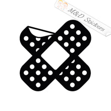 2x Bandaid Vinyl Decal Sticker Different colors & size for Cars/Bikes/Windows