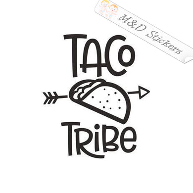 2x Taco Tribe Vinyl Decal Sticker Different colors & size for Cars/Bikes/Windows