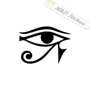 2x The eye of Egyptian God Horus Vinyl Decal Sticker Different colors & size for Cars/Bikes/Windows