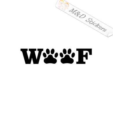 2x Woof Paws Vinyl Decal Sticker Different colors & size for Cars/Bikes/Windows