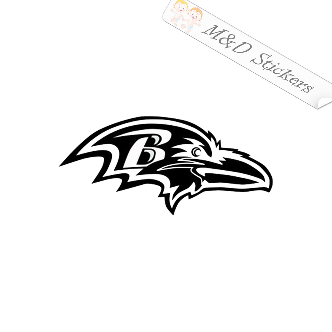 2x Baltimore Ravens Vinyl Decal Sticker Different colors & size for Cars/Bikes/Windows