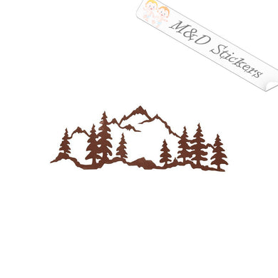 2x Mountain view Vinyl Decal Sticker Different colors & size for Cars/Bikes/Windows