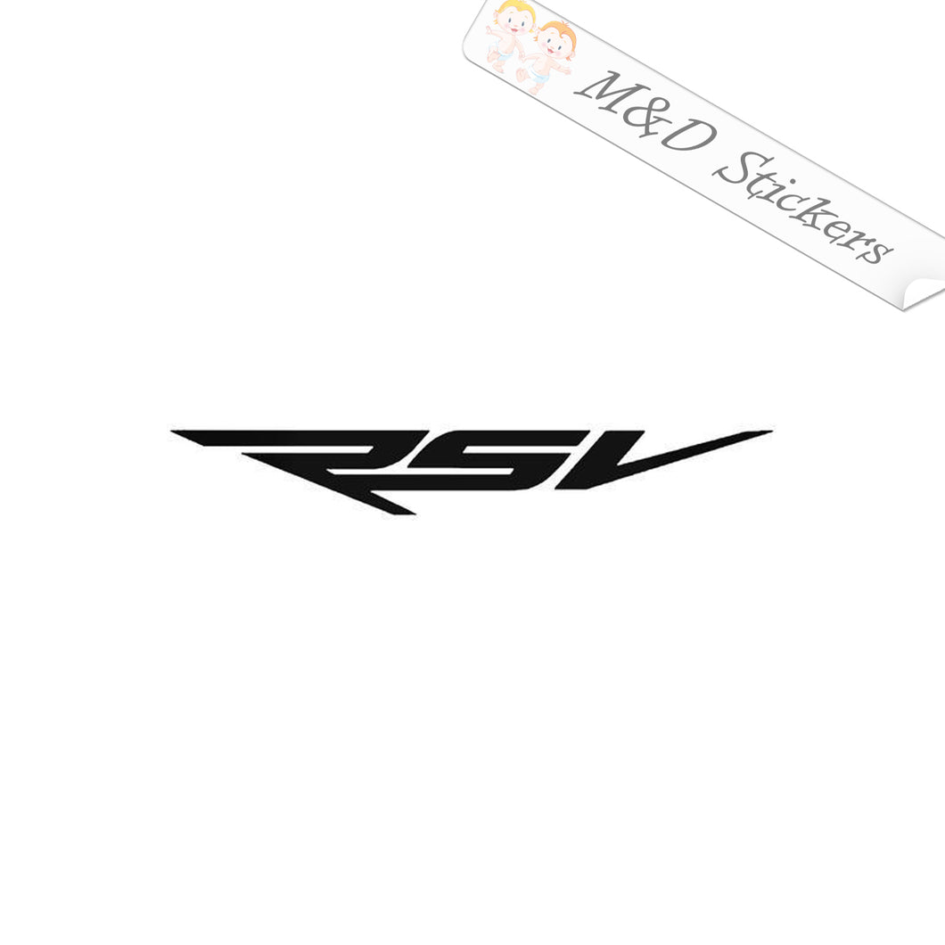 2x Aprilia RSV Vinyl Decal Sticker Different colors & size for Cars/Bikes/Windows