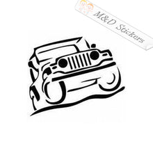 2x Jeep Vinyl Decal Sticker Different colors & size for Cars/Bikes/Windows