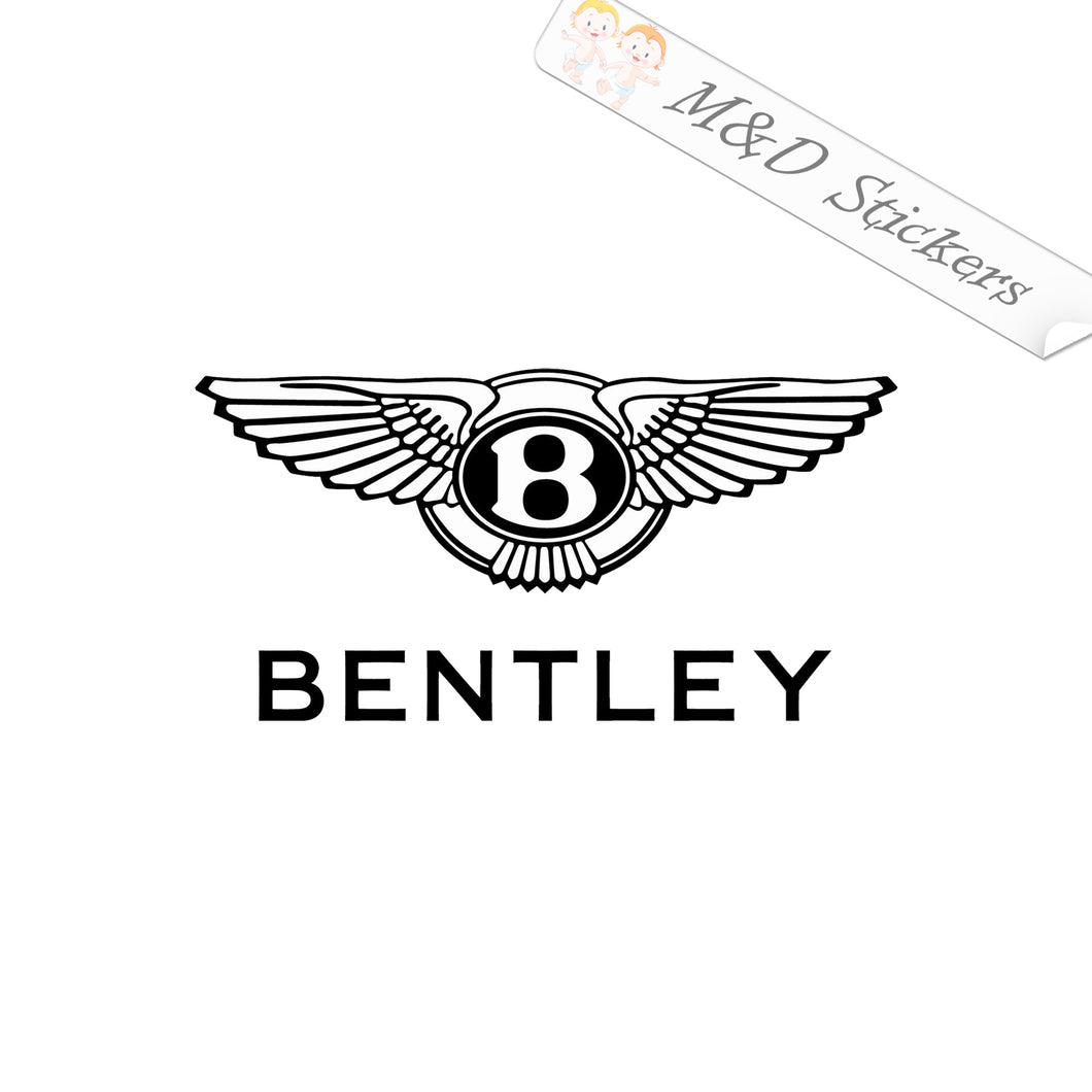 2x Bentley Logo Vinyl Decal Sticker Different colors & size for Cars/Bikes/Windows