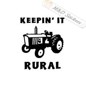 2x Tractor Keepin it rural Vinyl Decal Sticker Different colors & size for Cars/Bikes/Windows