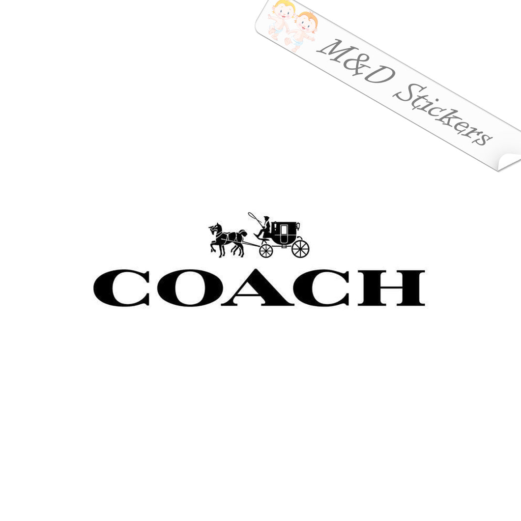2x Coach Logo Vinyl Decal Sticker Different colors & size for Cars/Bikes/Windows
