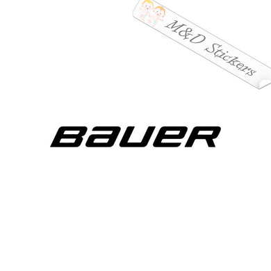 2x Bauer Logo Vinyl Decal Sticker Different colors & size for Cars/Bikes/Windows