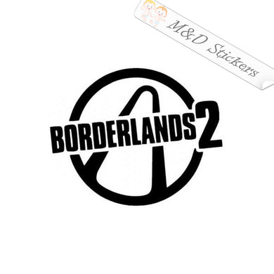 2x Borderlands 2 logo Vinyl Decal Sticker Different colors & size for Cars/Bikes/Windows