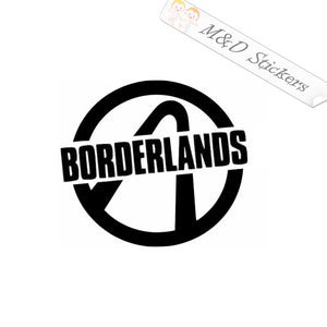 2x Borderlands logo Vinyl Decal Sticker Different colors & size for Cars/Bikes/Windows
