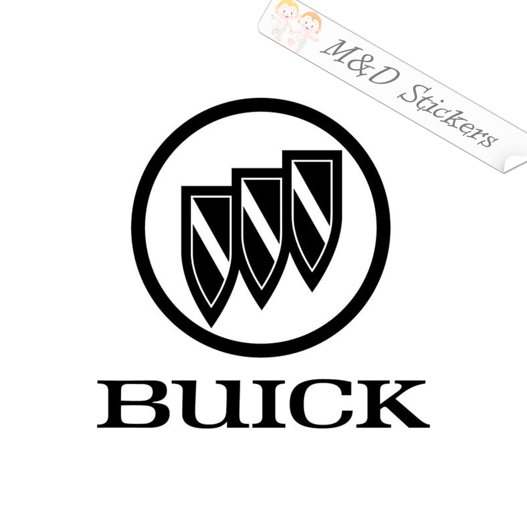 2x Buick Logo Decal Sticker Different colors & size for Cars/Bikes/Windows