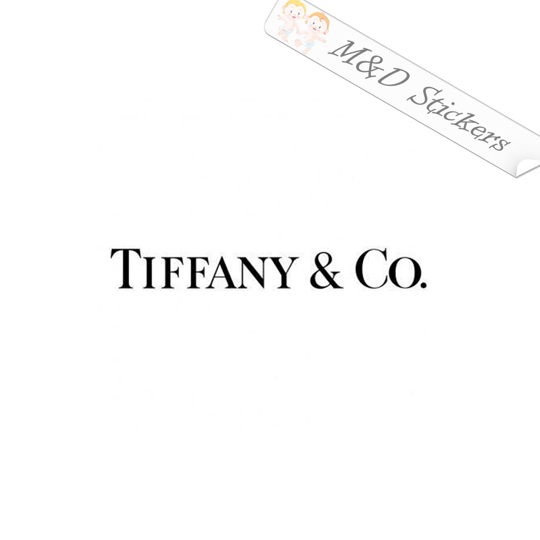 2x Tiffany & Co Clothing Logo Vinyl Decal Sticker Different colors & size for Cars/Bikes/Windows