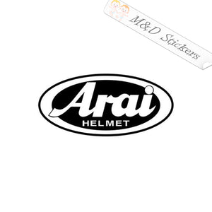 2x Arai Helmets Logo Vinyl Decal Sticker Different colors & size for Cars/Bikes/Windows