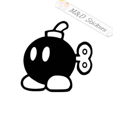 2x Bob-omb - Super Mario Video Game Vinyl Decal Sticker Different colors & size for Cars/Bikes/Windows