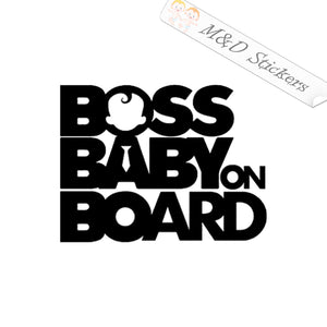 2x Boss Baby on board Vinyl Decal Sticker Different colors & size for Cars/Bikes/Windows
