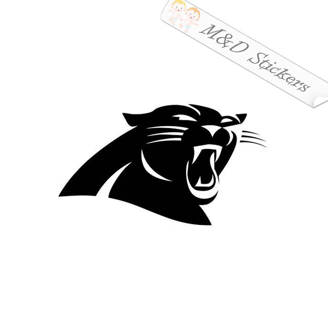 2x Carolina Panthers Vinyl Decal Sticker Different colors & size for Cars/Bikes/Windows