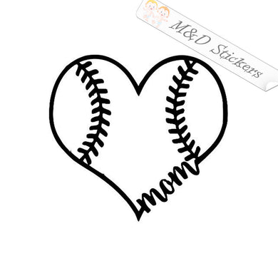 2x Baseball mom Vinyl Decal Sticker Different colors & size for Cars/Bikes/Windows