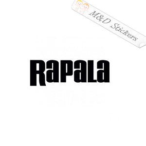 2x Rapala Fishing lures Vinyl Decal Sticker Different colors & size for Cars/Bikes/Windows