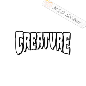 2x Creature skateboards Logo Vinyl Decal Sticker Different colors & size for Cars/Bikes/Windows