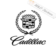 2x Cadillac Logo Decal Sticker Different colors & size for Cars/Bikes/Windows