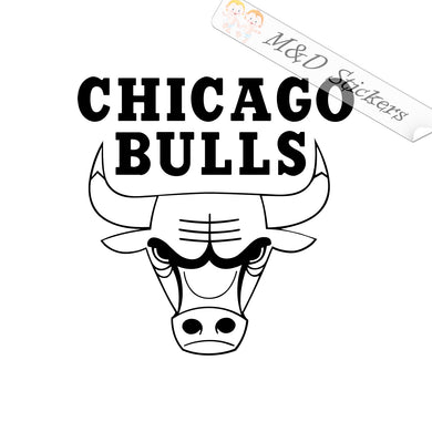 2x Chicago Bulls Basketball team Logo Vinyl Decal Sticker Different colors & size for Cars/Bikes/Windows