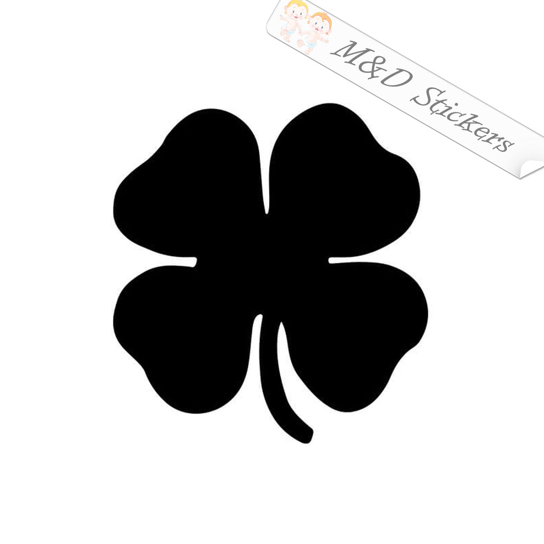 2x Irish St. Patrick's Four Leaf Clover Vinyl Decal Sticker Different colors & size for Cars/Bikes/Windows