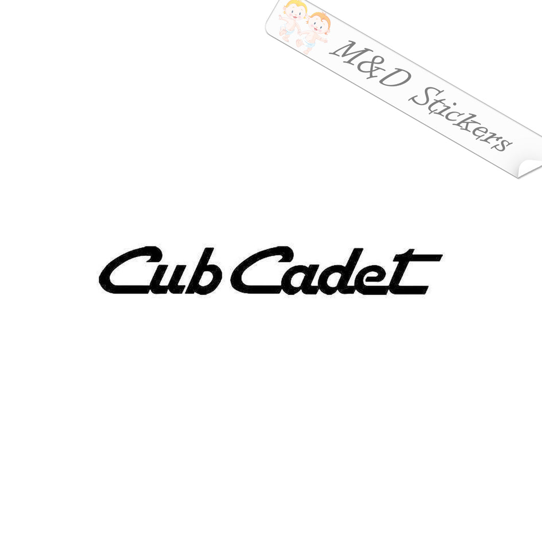 2x Cub Cadet Logo Vinyl Decal Sticker Different colors & size for Cars/Bikes/Windows