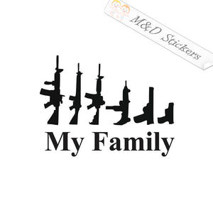 2x My guns family Vinyl Decal Sticker Different colors & size for Cars/Bikes/Windows