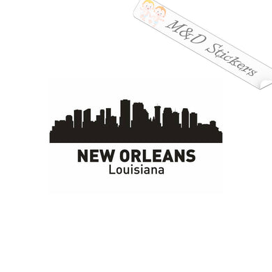 2x American New Orleans City Skyline Vinyl Decal Sticker Different colors & size for Cars/Bikes/Windows