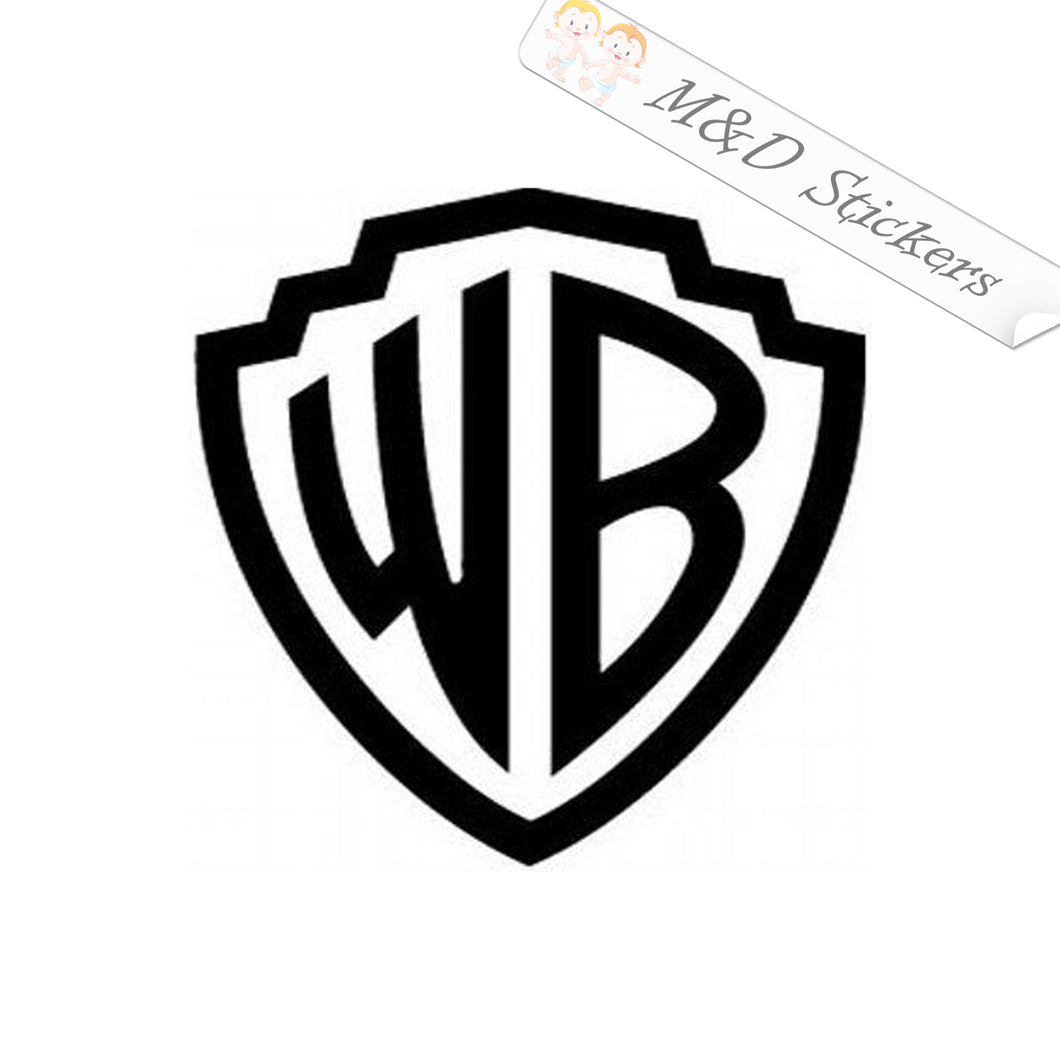 2x Warner Brothers Movie Studio Vinyl Decal Sticker Different colors & size for Cars/Bikes/Windows