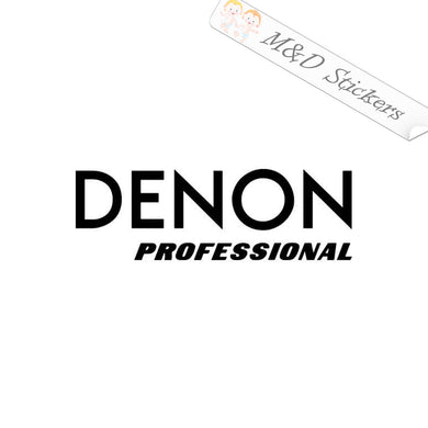 2x Denon Professional Vinyl Decal Sticker Different colors & size for Cars/Bikes/Windows