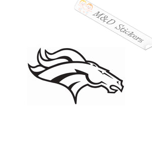2x Denver Broncos Vinyl Decal Sticker Different colors & size for Cars/Bikes/Windows