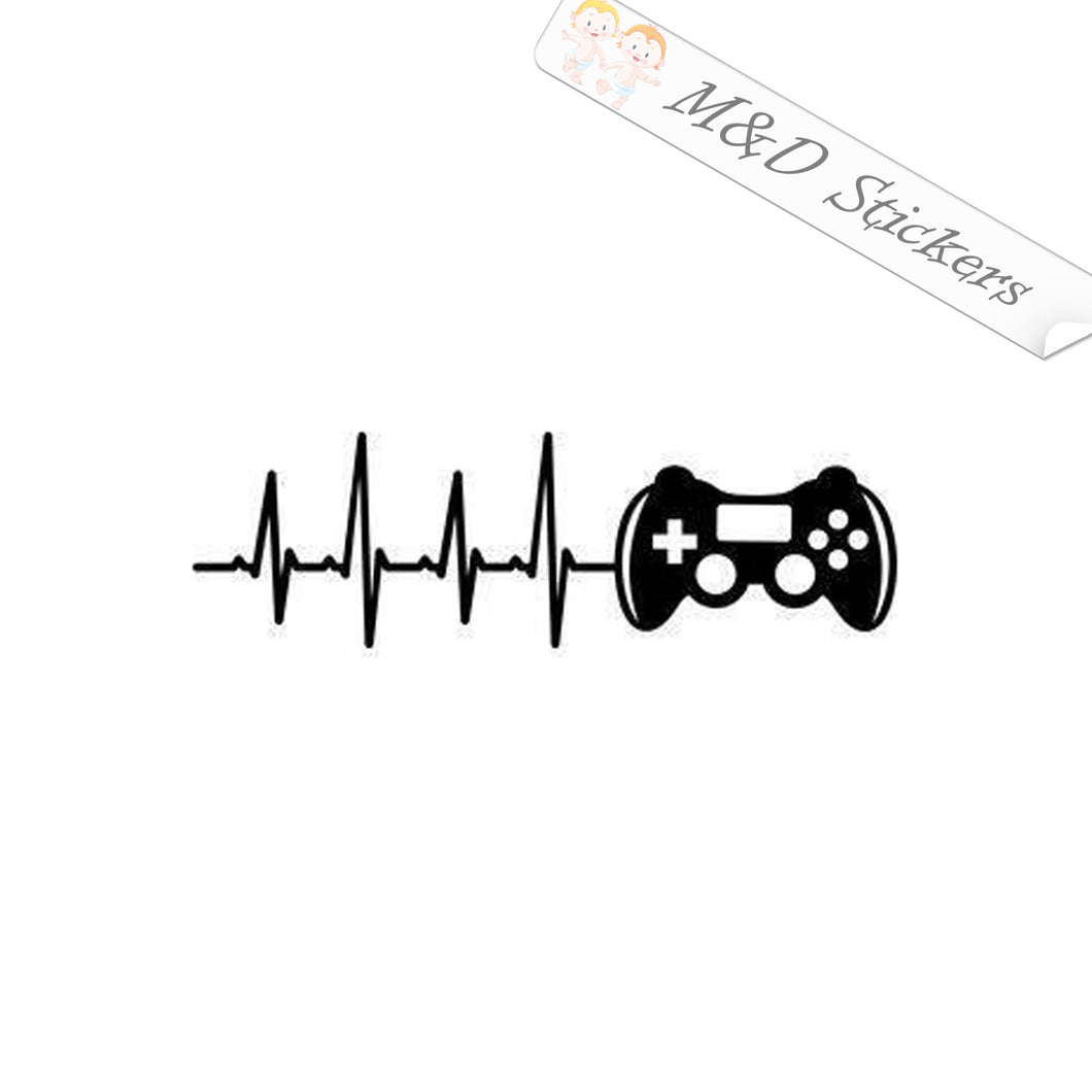 2x Pulse gamer Vinyl Decal Sticker Different colors & size for Cars/Bikes/Windows