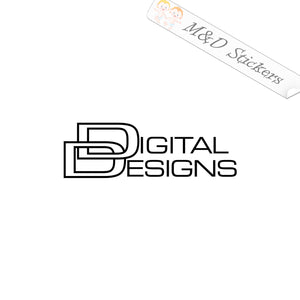 2x DIGITAL DESIGNS Vinyl Decal Sticker Different colors & size for Cars/Bikes/Windows